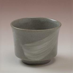 萩焼(伝統的工芸品)そばちょこ刷毛青端反