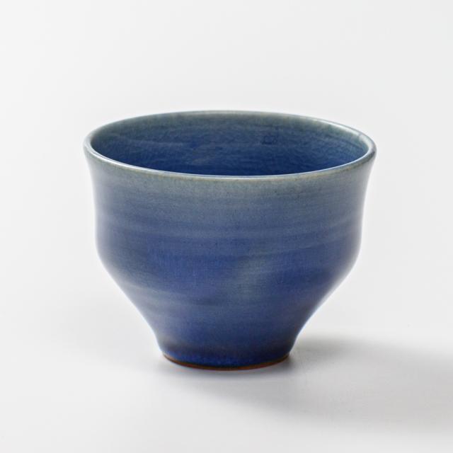 萩焼(伝統的工芸品)そばちょこ藍釉柿のへた