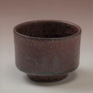 萩焼(伝統的工芸品)そばちょこ鉄赤釉荒筒