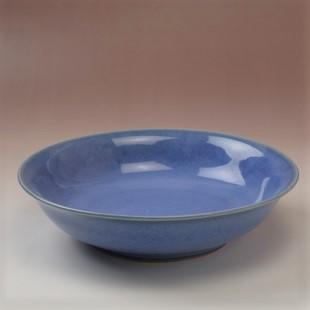 萩焼(伝統的工芸品)平鉢透青釉朝顔