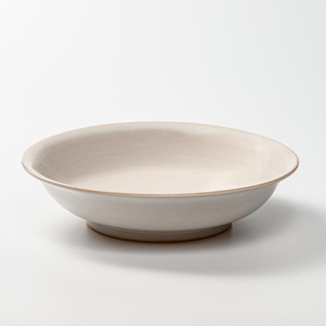 萩焼(伝統的工芸品)平鉢白姫朝顔