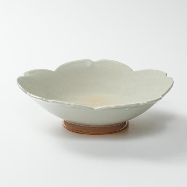 萩焼(伝統的工芸品)平鉢姫萩末広桜