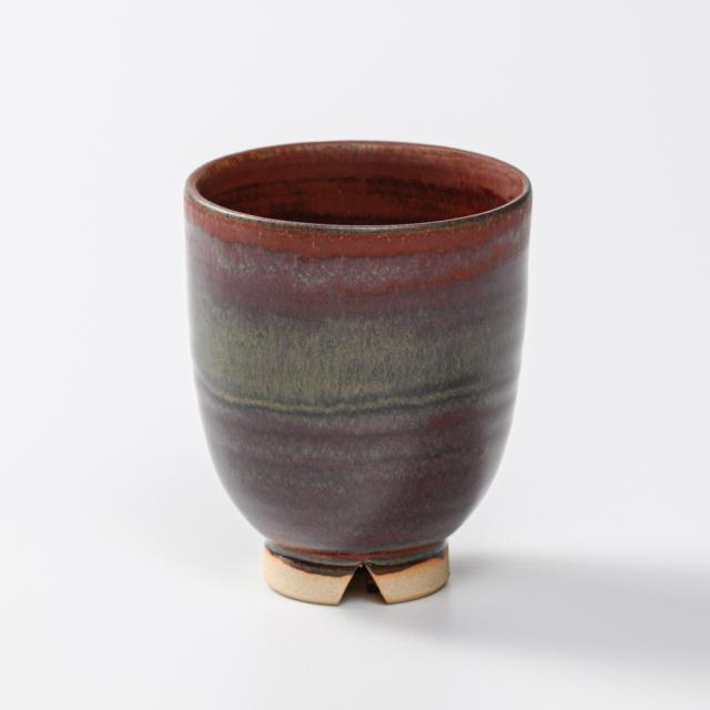 萩焼(伝統的工芸品)湯呑小鉄赤釉呉器No10