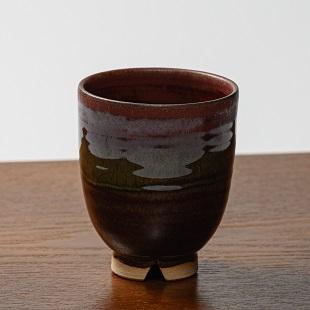 萩焼(伝統的工芸品)湯呑鉄赤釉呉器