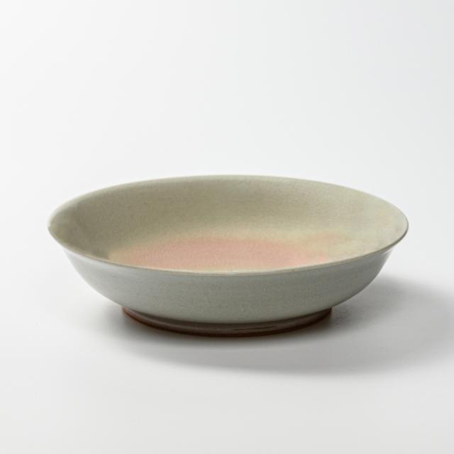 萩焼(伝統的工芸品)平鉢中姫萩朝顔