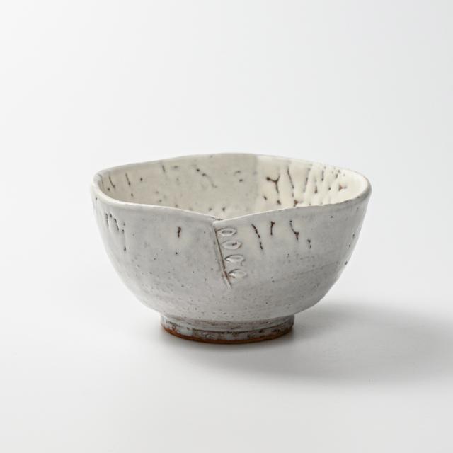 萩焼(伝統的工芸品)鉢鬼白竹呉器綴目