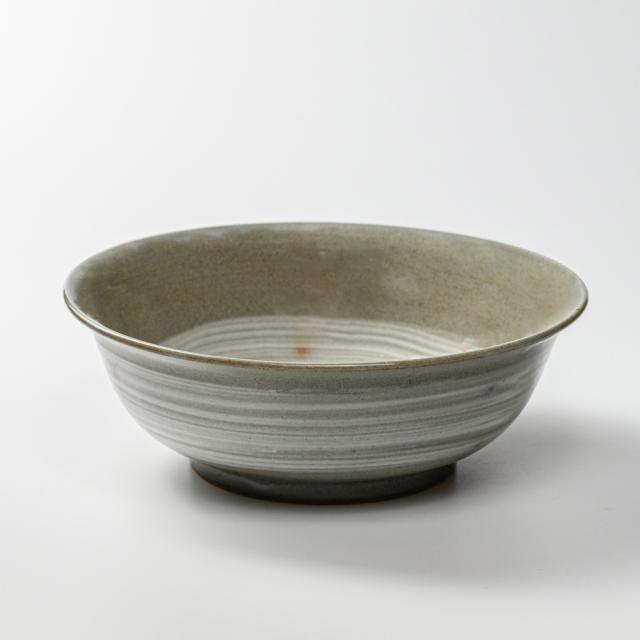 萩焼(伝統的工芸品)深鉢刷毛青朝顔