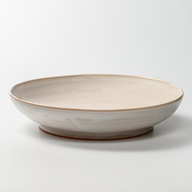 萩焼(伝統的工芸品)特大鉢白姫丸