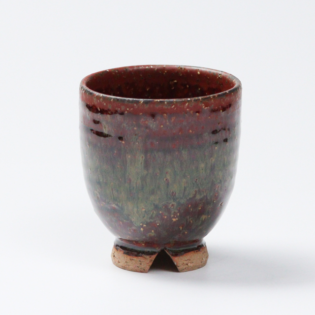 萩焼(伝統的工芸品)湯呑小鉄赤釉荒呉器No11