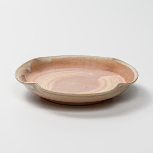 萩焼(伝統的工芸品)銘々皿刷毛姫四つ葉