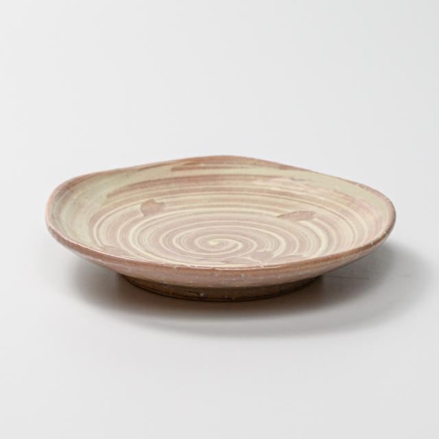 萩焼(伝統的工芸品)銘々皿刷毛姫荒五岳桜紋