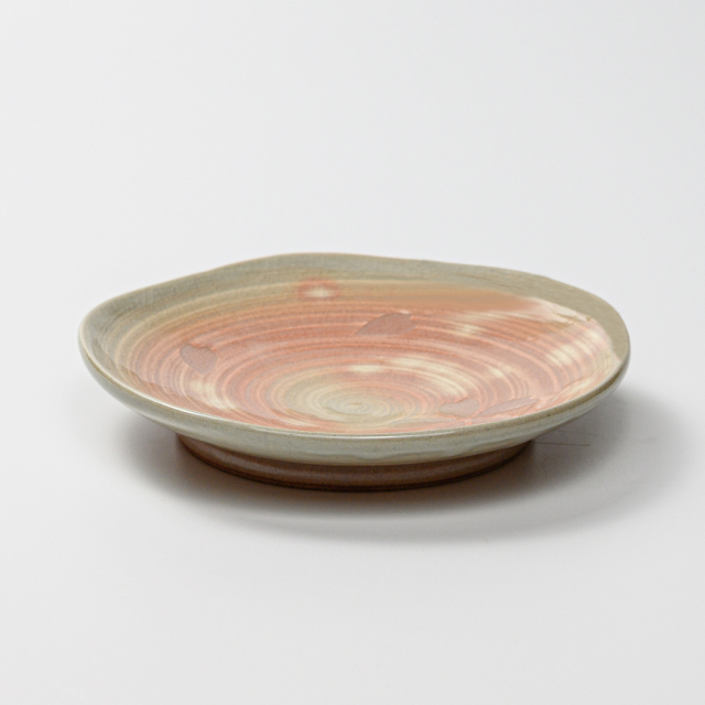 萩焼(伝統的工芸品)銘々皿刷毛姫五岳桜紋