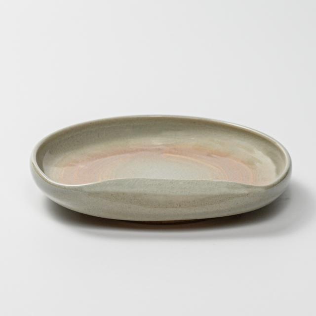 萩焼(伝統的工芸品)銘々皿刷毛姫豆形一辺