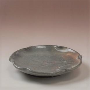 萩焼(伝統的工芸品)銘々皿御本手木の葉