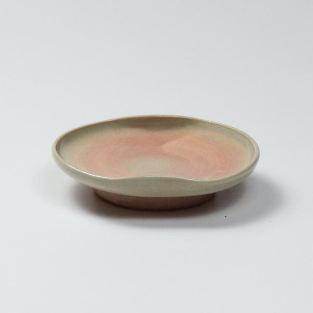 萩焼(伝統的工芸品)小皿刷毛姫豆形二辺No1232