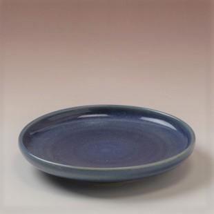 萩焼(伝統的工芸品)小皿藍釉丸