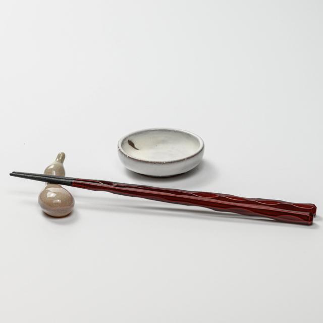 萩焼(伝統的工芸品)豆皿鬼白竹丸