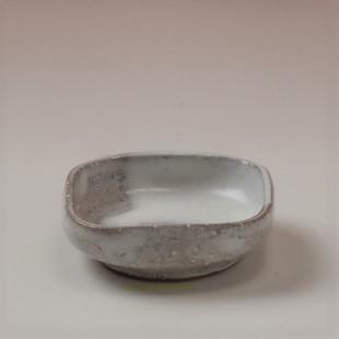 萩焼(伝統的工芸品)豆皿白萩掛分け四方