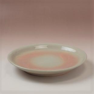 萩焼(伝統的工芸品)平皿中刷毛姫丸