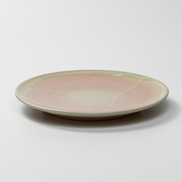 萩焼(伝統的工芸品)平皿中姫萩丸