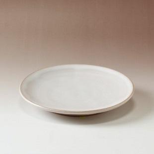 萩焼(伝統的工芸品)平皿小白姫丸