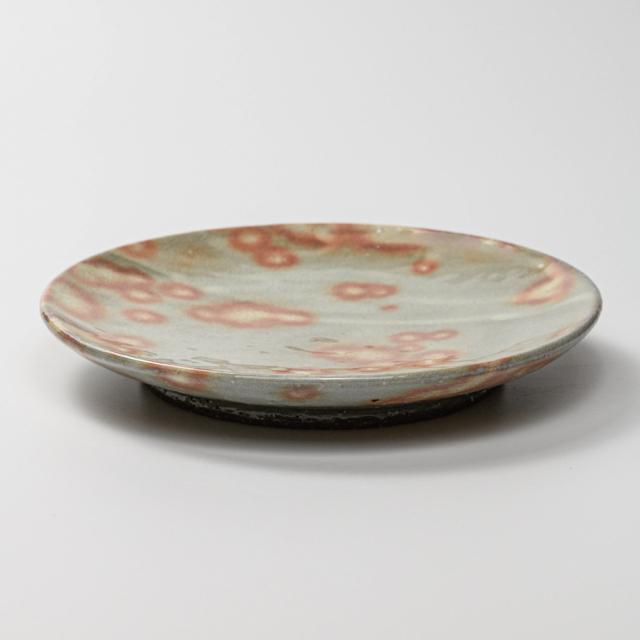 萩焼(伝統的工芸品)平皿中御本手丸