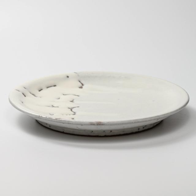 萩焼(伝統的工芸品)平皿大鬼白竹丸