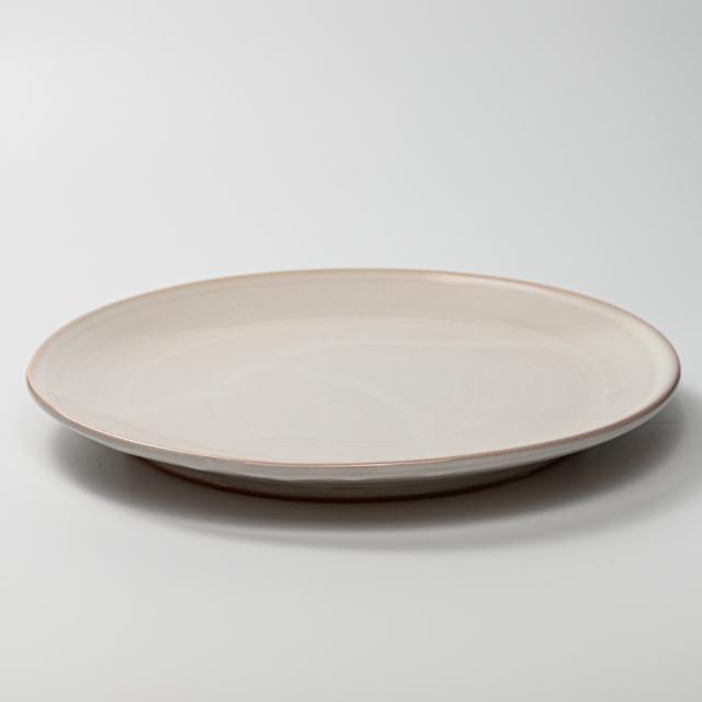 萩焼(伝統的工芸品)大皿白姫丸