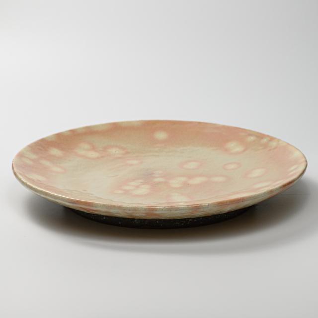 萩焼(伝統的工芸品)特大皿御本手丸