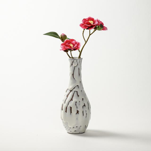 萩焼(伝統的工芸品)花入鬼白松曽呂利