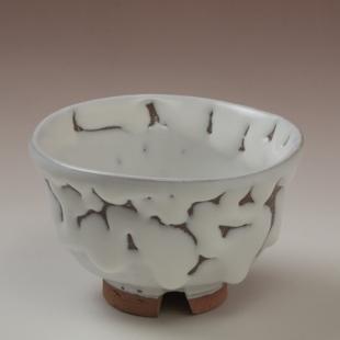 萩焼(伝統的工芸品)汲出し湯呑大鬼白松朝顔