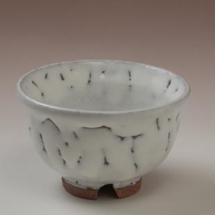 萩焼(伝統的工芸品)汲出し湯呑大鬼白竹朝顔