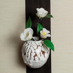 萩焼(伝統的工芸品)掛花入鬼白蹲