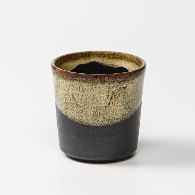 萩焼(伝統的工芸品)つぼ小鉄釉結晶丸