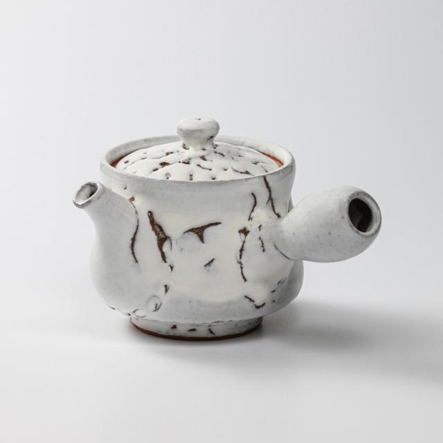 萩焼(伝統的工芸品)急須中鬼白松筒鉄砲口
