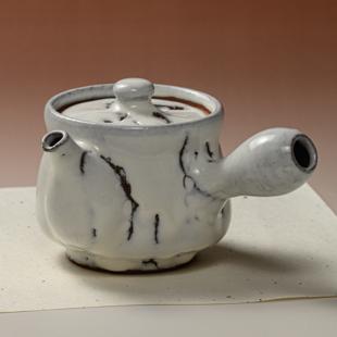萩焼(伝統的工芸品)急須中鬼白竹筒鉄砲口