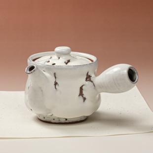 萩焼(伝統的工芸品)急須中大鬼白竹筒鉄砲口