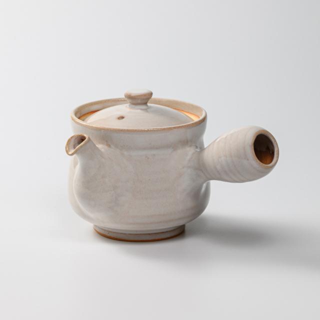 萩焼(伝統的工芸品)急須中白姫筒鉄砲口No178
