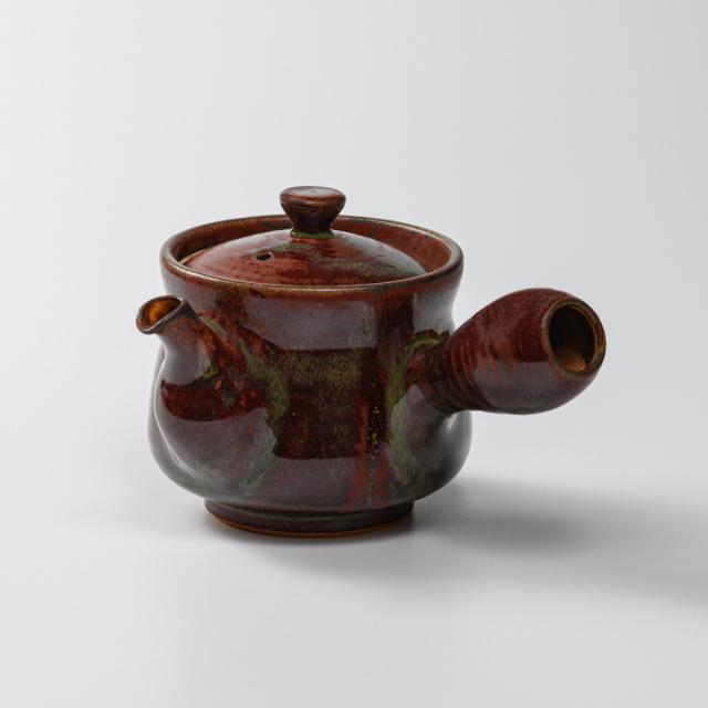 萩焼(伝統的工芸品)急須中鉄赤釉筒鉄砲口No179