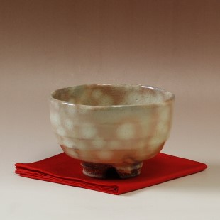 萩焼(伝統的工芸品)抹茶碗御本手半筒