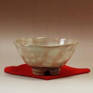 萩焼(伝統的工芸品)抹茶碗御本手平