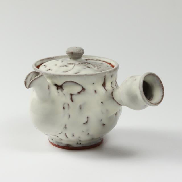 萩焼(伝統的工芸品)急須大鬼白竹丸鉄砲口No186