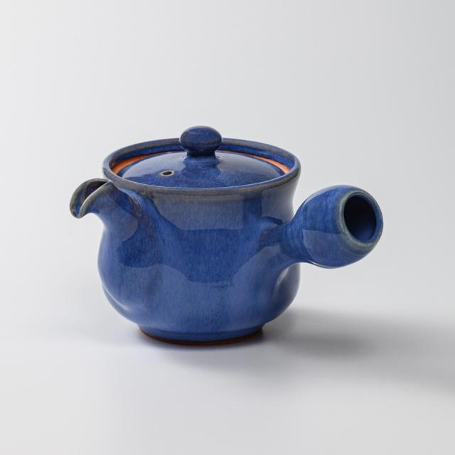 萩焼(伝統的工芸品)急須中透青釉筒鉄砲口