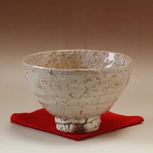 萩焼(伝統的工芸品)抹茶碗特大鬼萩荒井戸形