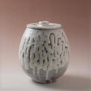 萩焼(伝統的工芸品)水指鬼白梅芋頭(共蓋付)