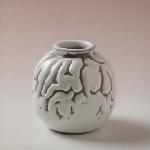 萩焼(伝統的工芸品)茶入鬼白松茄子大