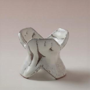 萩焼(伝統的工芸品)蓋置鬼白松三つ葉