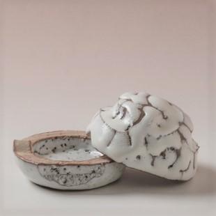萩焼(伝統的工芸品)香合鬼白松山