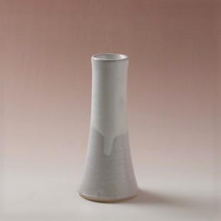 萩焼(伝統的工芸品)杓立て白萩掛分け円錐形