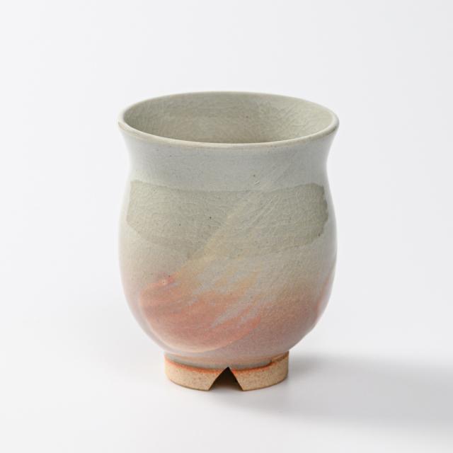 萩焼(伝統的工芸品)湯呑小刷毛姫丸